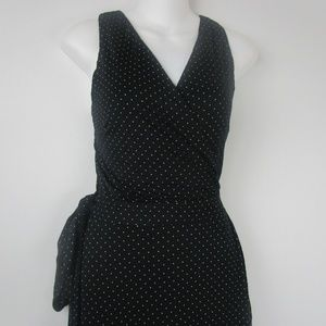 Loft Polka Dot Lap Front Stretch Dress